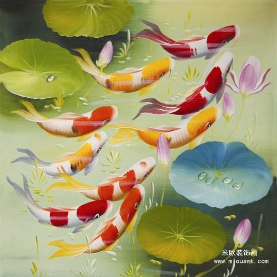 油画,小鲤鱼历险记,红烧鲤鱼,油画鲤鱼图片